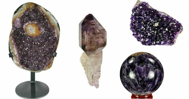 Amethyst crystals and geodes