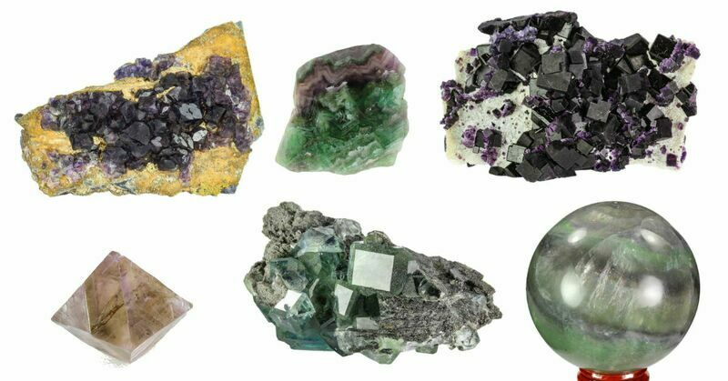 Colorful fluorite crystals for sale