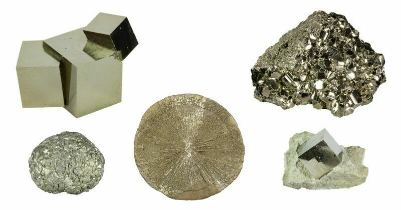 Pyrite crystals & cubes for sale