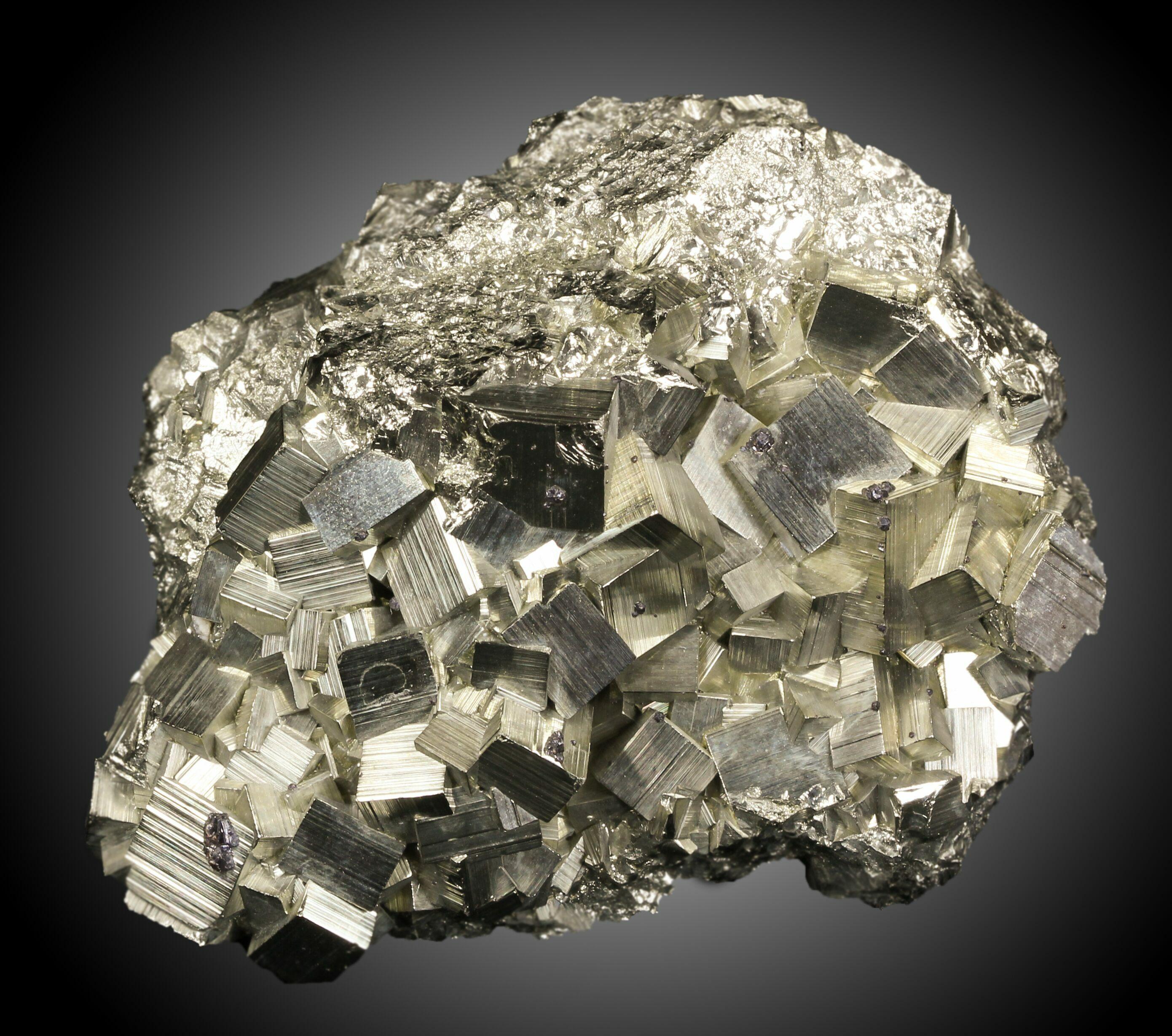 "3.6"" Pyritohedral Pyrite Cluster - Peru For Sale (#31098 ..."