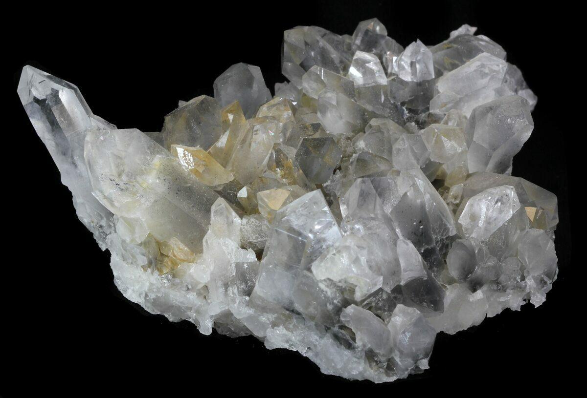 4quot quartz cluster with magnesium inclusions arkansas for