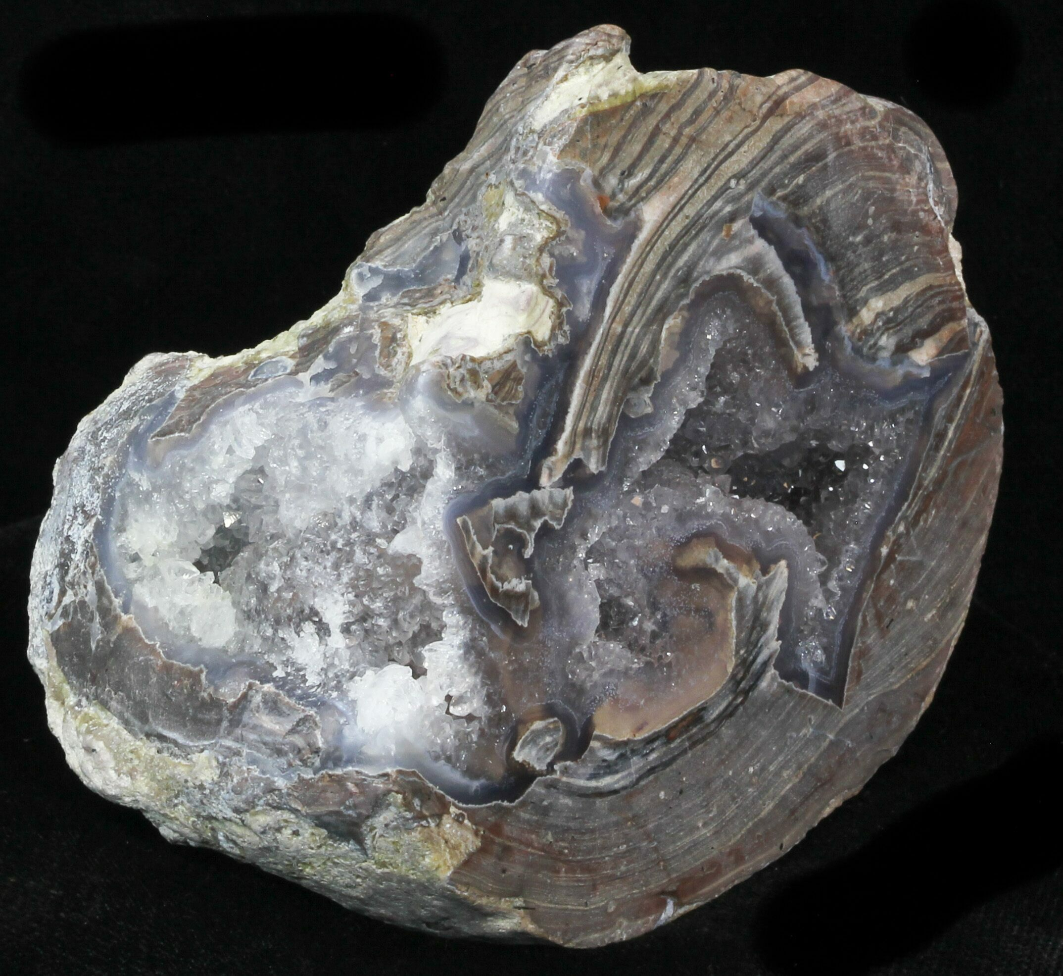 3 9 quot crystal filled dugway geode polished half for sale