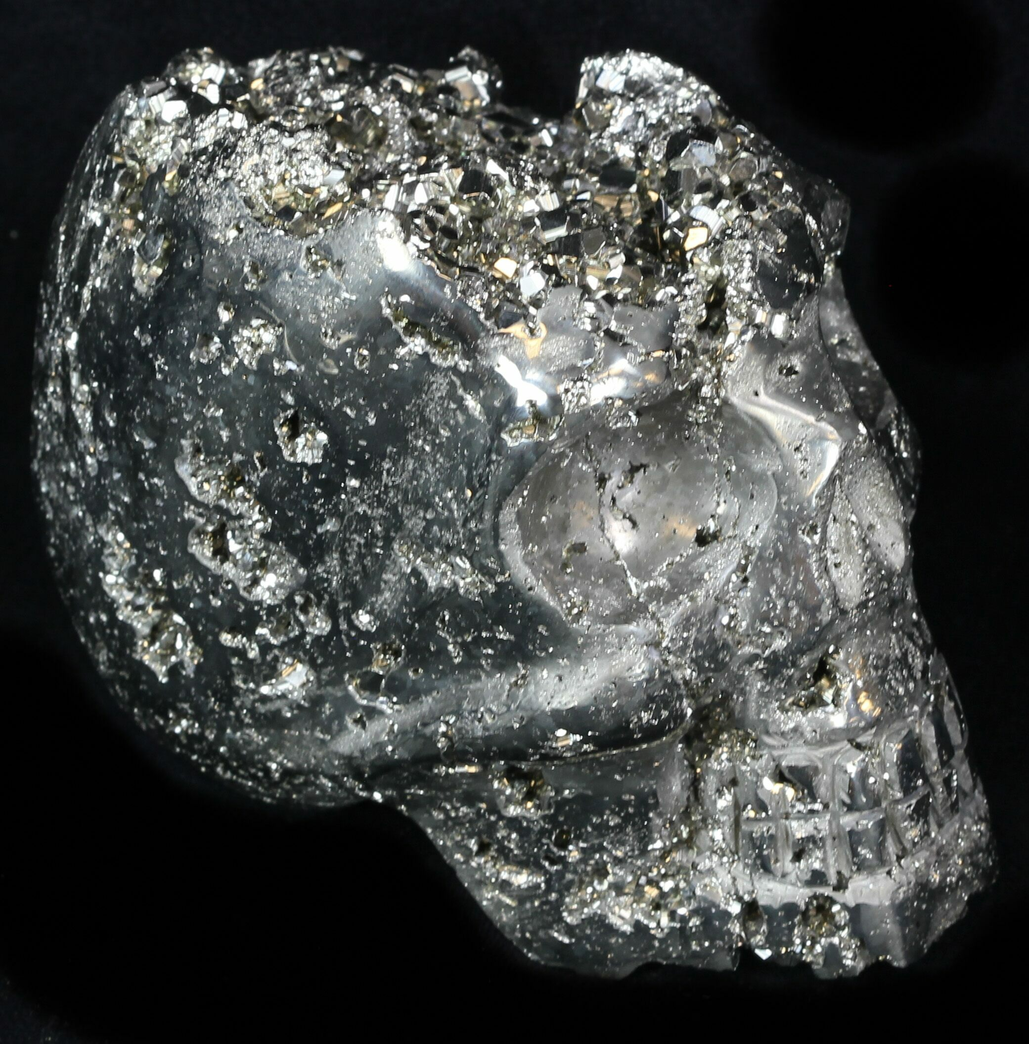 """3.5"""" Polished Pyrite Skull With Pyritohedral Crystals ..."""