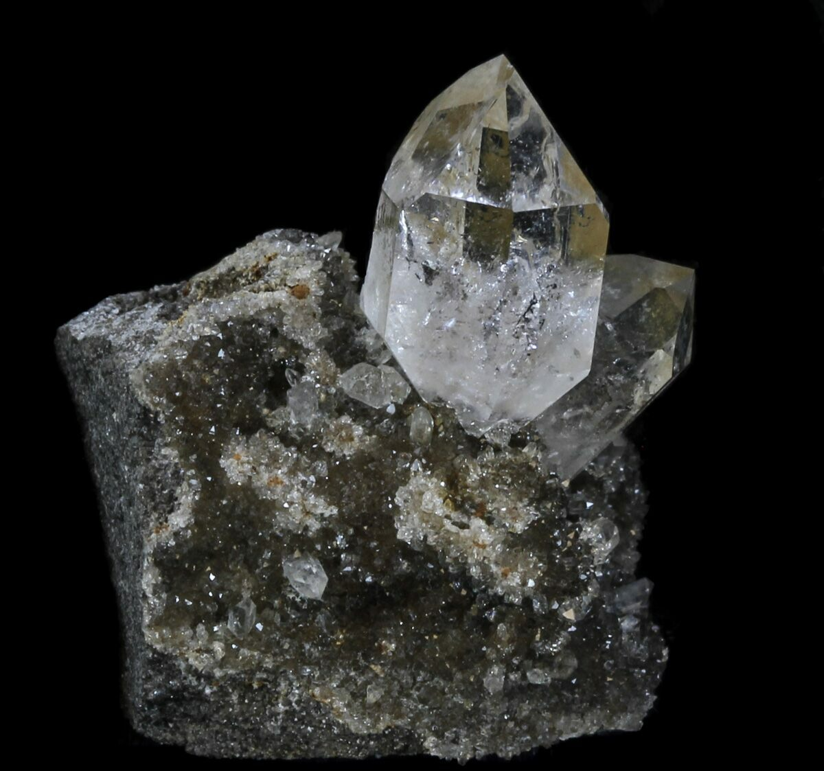 terminated healing arizona payson rare crystal diamond herkimer double pin quartz