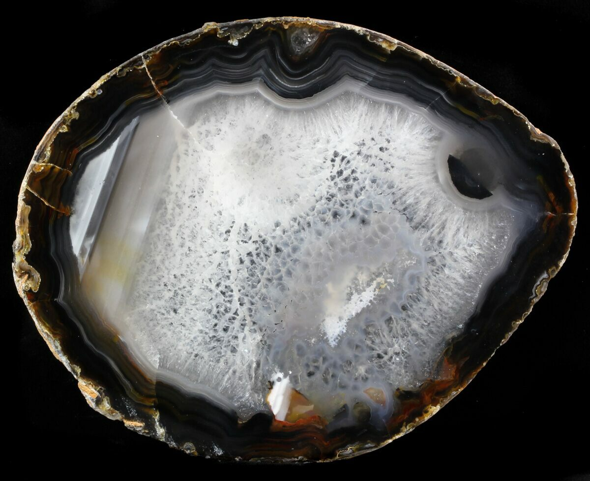 6 1 Quot Polished Brazilian Agate Slice For Sale 34392