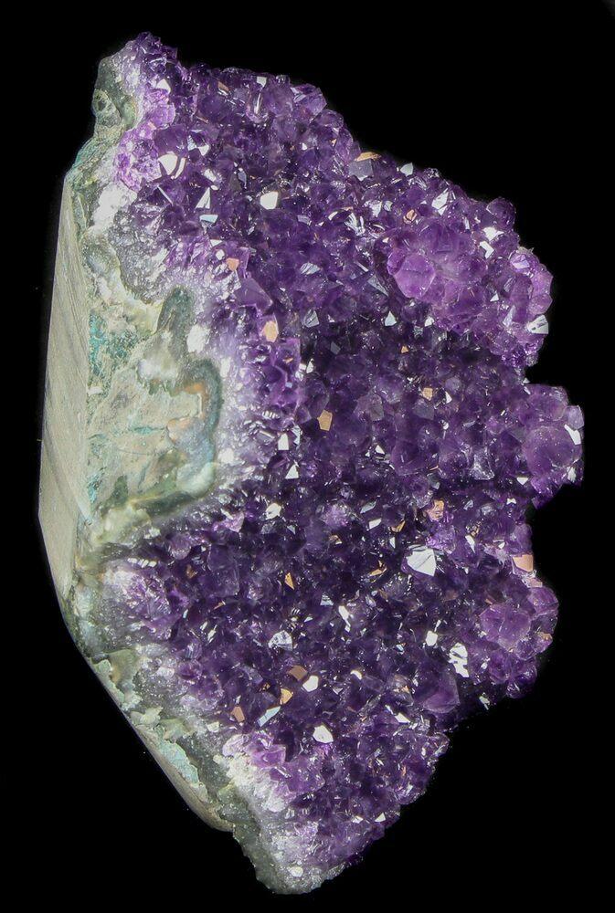 Uruguayan Dark Purple Druzy Amethyst Freestanding Cut Base Crystal Cluster