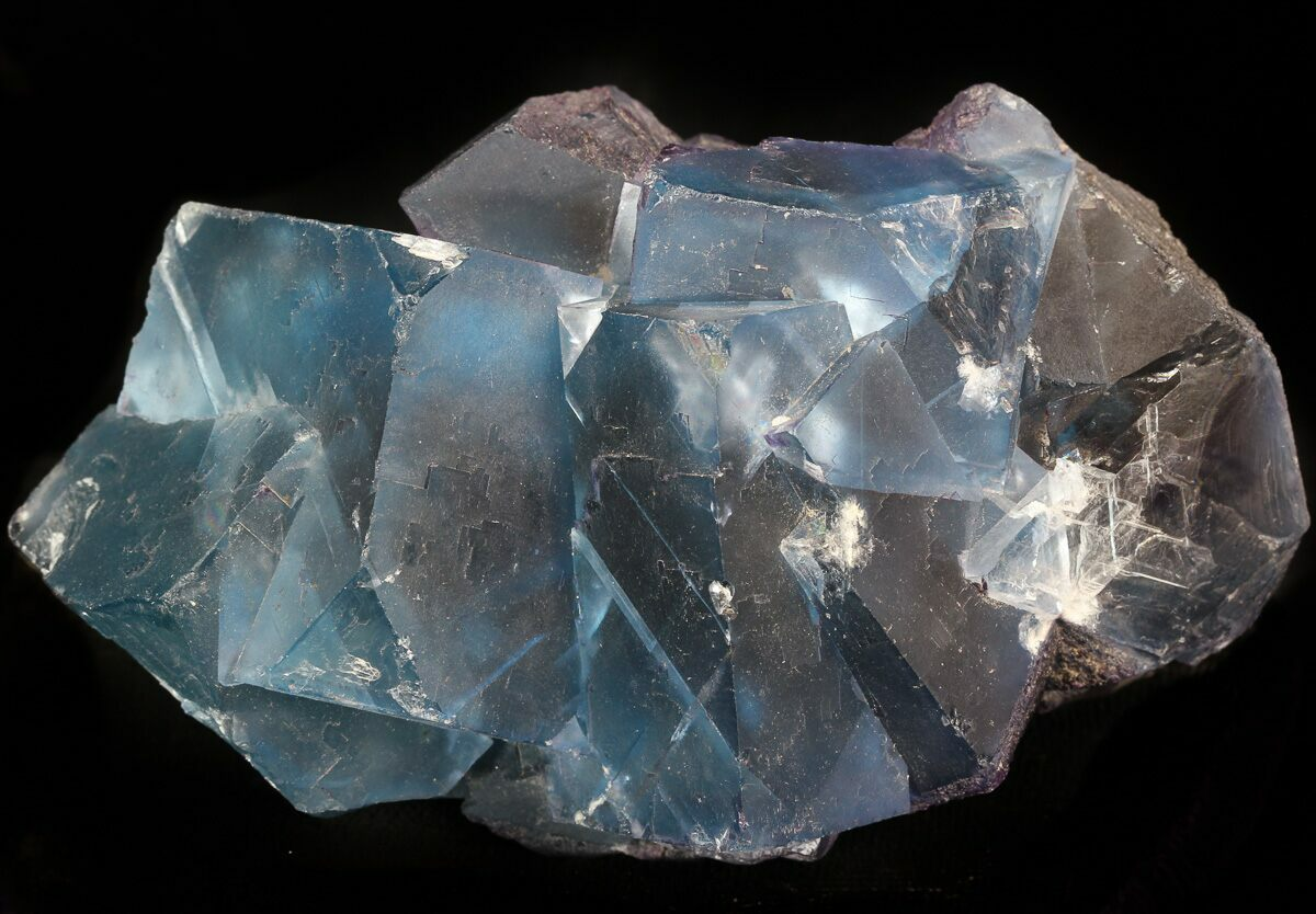 4 8 blue fluorite cube cluster cave in rock illinois for sale