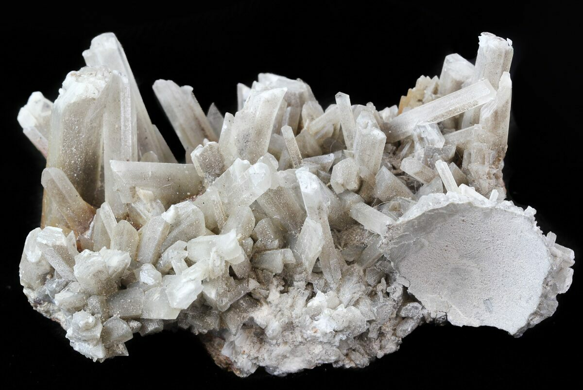 3 5 selenite crystals on matrix mexico for sale 45195 for Gypsum colour