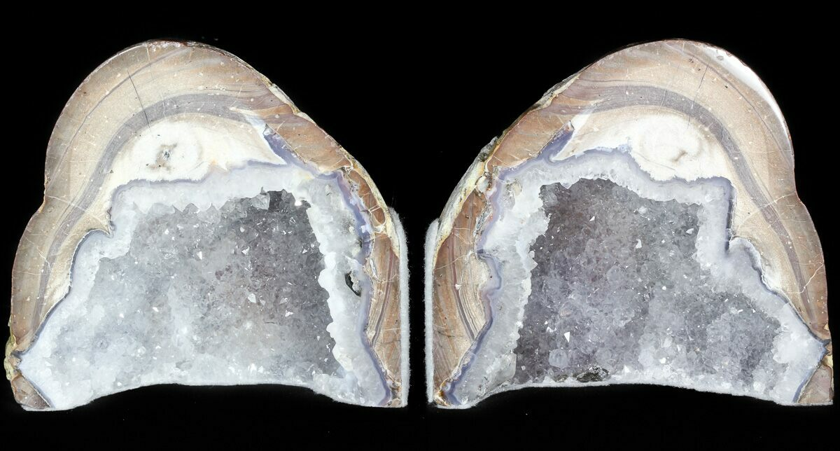 4 1 dugway geode bookends sparking crystals for sale 45936 - Geode bookends ...