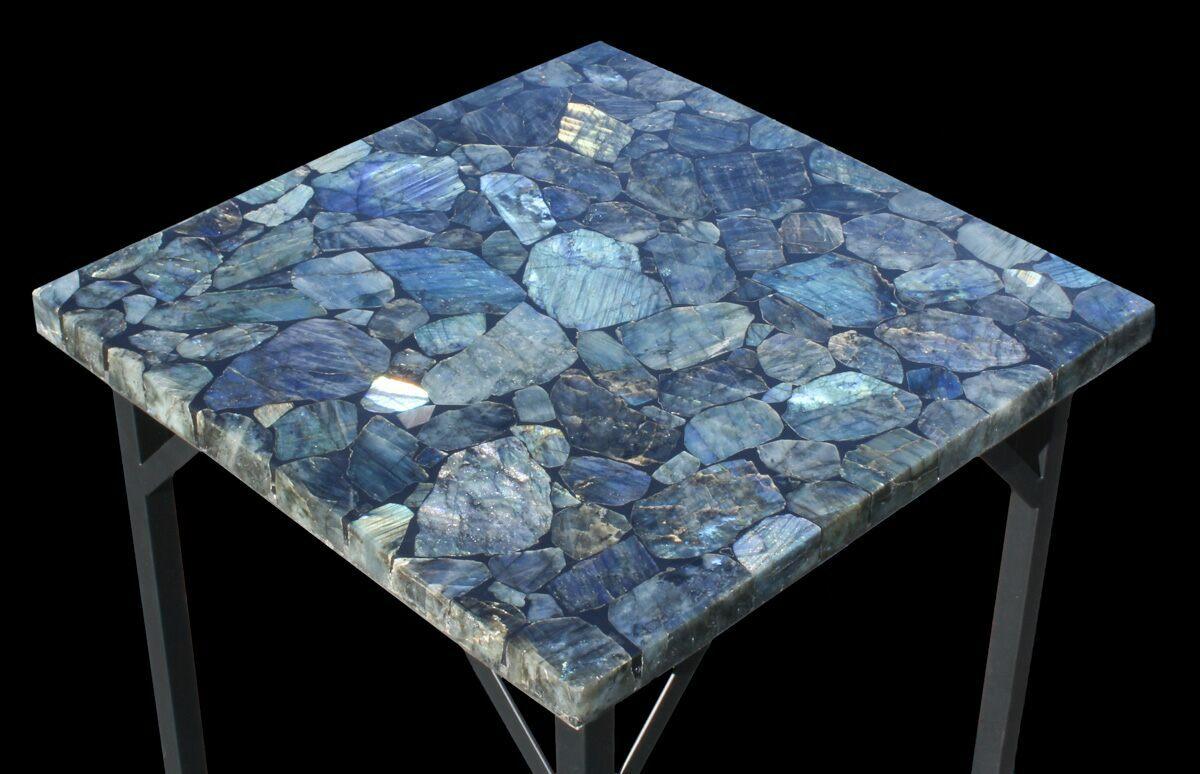 20 x 20 labradorite end table reduced price for sale 52941. Black Bedroom Furniture Sets. Home Design Ideas