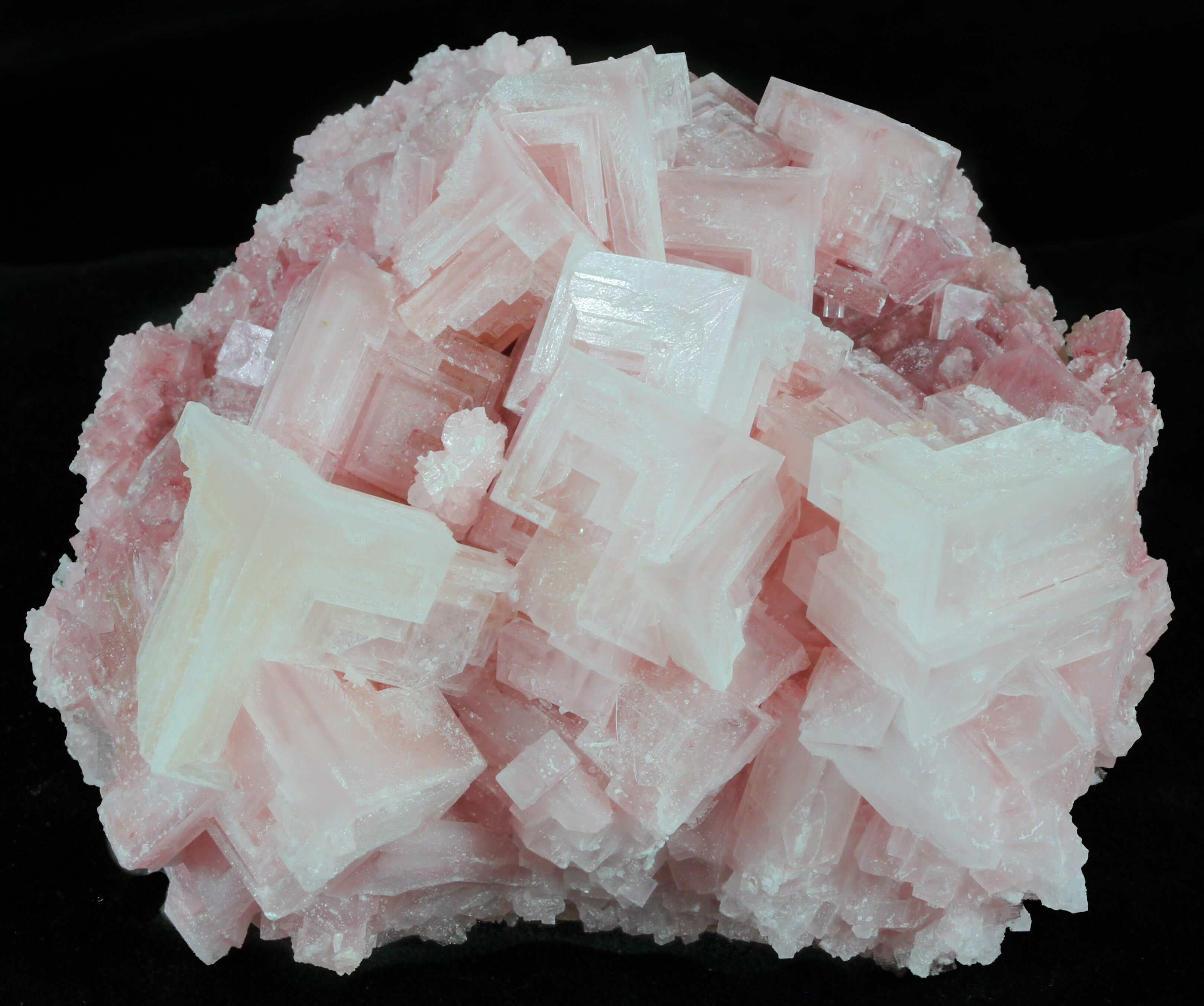 """3.8"""" Pink Halite Crystal Plate"""